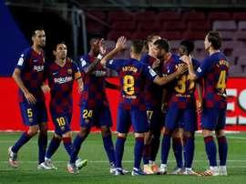 O Barcelona derrotou o Leganés por 2 a 0 em partida pela 29ª rodada da LaLiga. EFE/Alberto Estévez