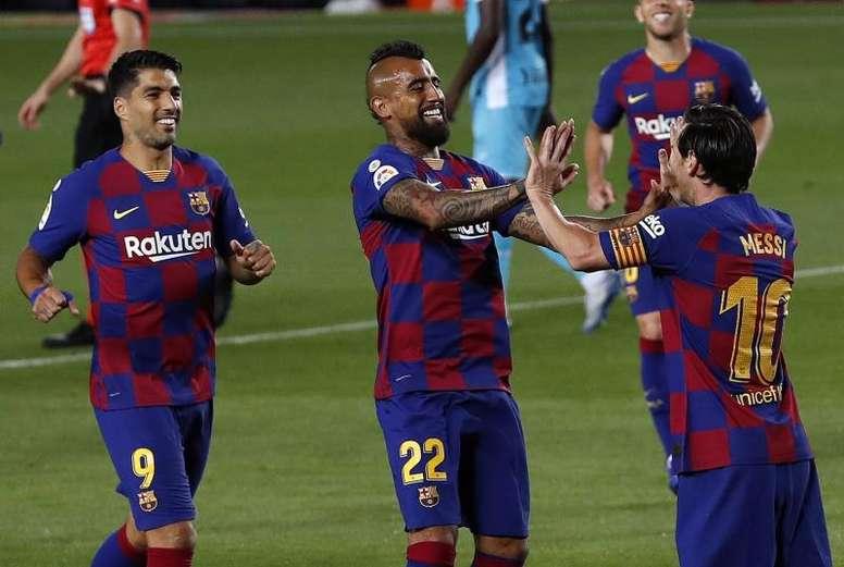 Vidal e Suárez, fora da lista para o Gamper. EFE