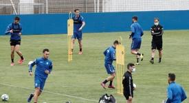 Osasuna se ejercitó con visitas al choque ante el Betis. EFE/Archivo