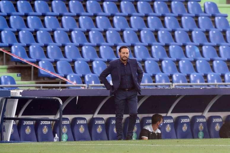 Bordalás habló del partido frente al Barcelona. EFE/Kiko Huesca