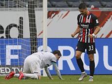 El Eintracht, enrachado como André Silva. EFE