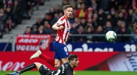 Saúl espera que o Atlético de Madrid continue crescendo.  EFE/Rodrigo Jiménez