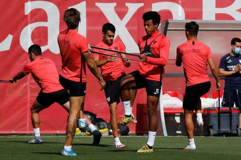 Sevilla have returned to training after six days rest. EFE