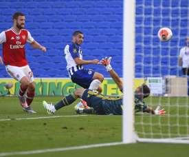 Arsenal perdeu fora de casa para o Brighton. EFE/EPA/MIKE HEWITT / NMC