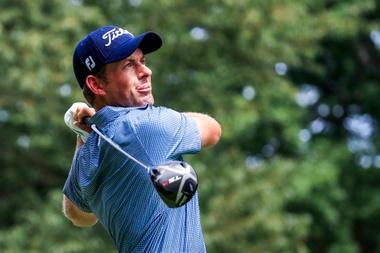 En la imagen, el golfista estadounidense Webb Simpson. EFE/Tannen Maury/Archivo