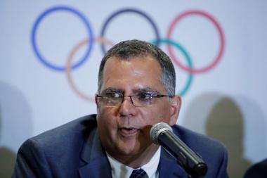 El presidente del Comité Olímpico de Panamá (COP), Camilo Amado, habla durante la primera asamblea general extraordinaria del 2019 del COP, el 4 de julio de 2019, en Ciudad de Panamá (Panamá). EFE/Bienvenido Velasco/Archivo