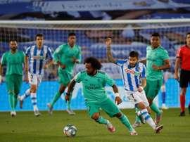 Marcelo voltou ao seu melhor nível na hora certa. EFE/Juan Herrero