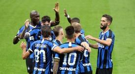 Lautaro y Lukaku le dieron el triunfo al Inter. AFP