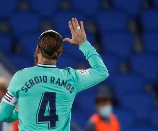 Sergio Ramos wrote his end of season message on Twitter. EFE