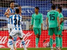 Mikel Merino 'rajó' tras la derrota ante el Madrid. EFE