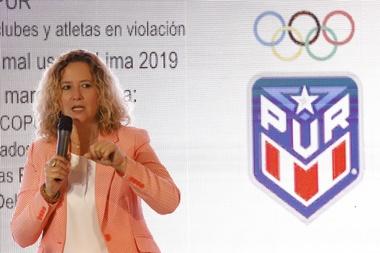 En la imagen un registro de la presidenta del Comité Olímpico de Puerto Rico (Copur), Sara Rosario, en San Juan (Puerto Rico. EFE/Thais Llorca/Archivo