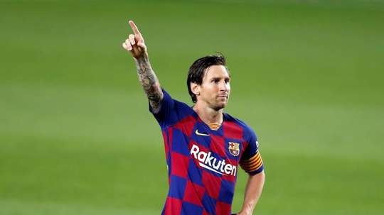 Messi vers son septième Pichichi. EFE