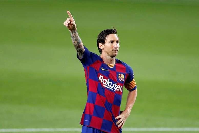 Leo Messi leva grande vantagem contra Simeone pelo Espanhol. EFE/Alberto Estévez/Arquivo