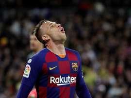 Arthur Melo deve deixar o Barcelona neste fim de semana. EFE/Juanjo Martín/Arquivo