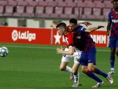 Busquets llega limpio al partido ante el Atlético. EFE