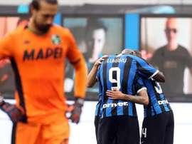 El Inter tropezó de forma sorprendente. EFE