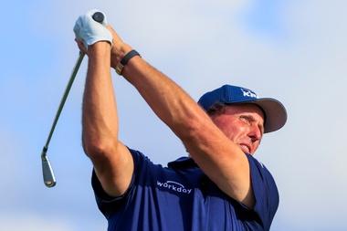 En la imagen, el golfista, Phil Mickelson. EFE/EPA/TANNEN MAURY
