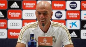 Zidane teve entrevista na véspera da partida contra o Getafe. EFE/Realmadrid.com/Helios De La Rubia