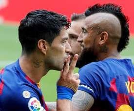 Luis Suarez's brace only got Barca a point. EFE