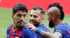 Barcelona empate e o Real pode ser líder com dois pontos de vantagem. Captura/Movistar+