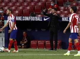 Bajas en el Atlético para el Camp Nou. EFE