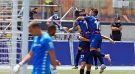 El Levante venció por 4-2 en La Nucía. EFE