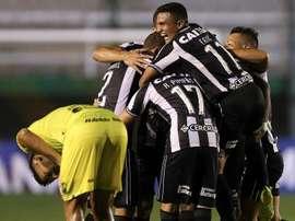 Botafogo recebeu a Cabofriense no Nilton Santos sem torcida. EFE/Juan Ignacio Roncoroni/Arquivo