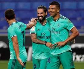 Com ótima atuação, Casemiro marcou o gol do Real Madrid. EFE/Alberto Estévez