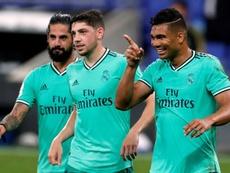Casemiro agradeció la asistencia a Benzema. EFE