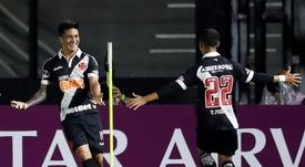 Germán Cano é um dos prováveis titulares do Vasco. EFE/Marcelo Sayao/Arquivo