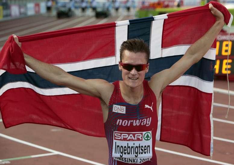 El noruego Henrik Ingebrigtsen firma la mejor marca mundial del año en 5.000. EFE/EPA/PEKKA SIPOLA/Archivo