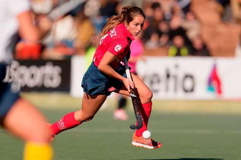 La jugadora de hockey sobre hierba Patricia Alvarez durante un partido. EFE/ Patricia Alvarez