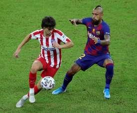 Empate com o Atlético de Madrid dificulta o Barcelona na luta pelo título. EFE/JuanJo Martín/Arquivo