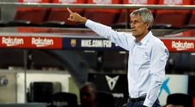 Quique Setién entra na mira do Palmeiras. EFE