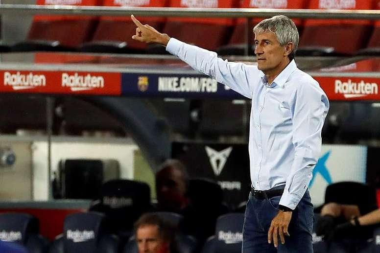 Setién cargó contra el Barça. EFE/Archivo