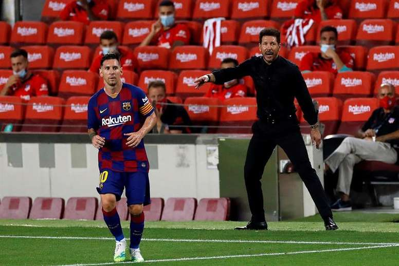 Messi ha decantado ocho de sus once victorias ante Simeone. EFE