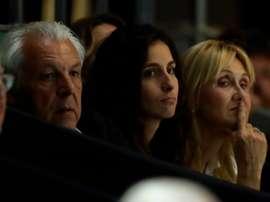 Los padres de Rafa Nadal, y su mujer Mery Perelló (c). EFE/Kiko Huesca./Archivo