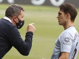 Óscar lamentó la remontada de Osasuna ante su Celta. EFE/Lavandeira Jr