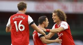 El Arsenal goleó liderado por Aubameyang. EFE