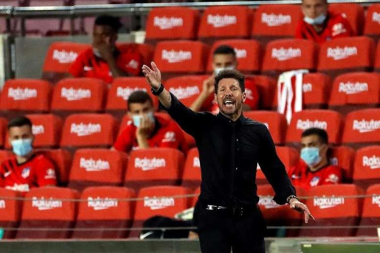Atlético de Madrid enfrentou o Mallorca pela 34ª rodada do Campeonato Espanhol. Capturas/Movistar