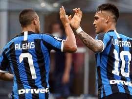 Gran partido del chileno con el Inter. EFE