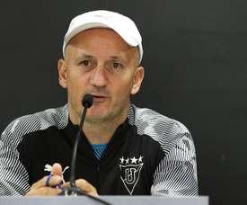 Pablo Repetto ha hecho historia al frente de Liga de Quito. EFE