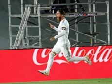 Ramos alcanzó los 450 partidos con el Madrid. EFE