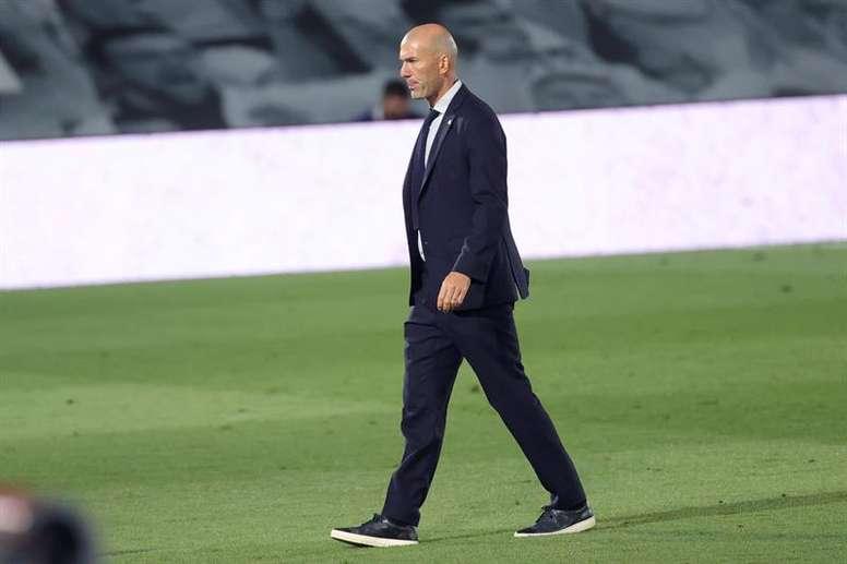 Zidane deu uma resposta curta e clara. EFE/JuanJo Martín