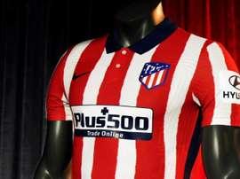 Atlético apresentou sua nova camisa. EFE/atléticodemadrid.com