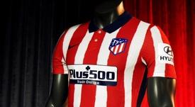 Le nouveau maillot domicile de l'Atlético pour 2020-21. EFE/atléticodemadrid.com