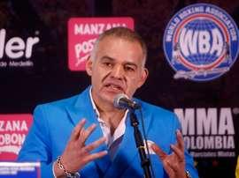 En la imagen el presidente de la Asociación Mundial de Boxeo (AMB), el venezolano Gilberto De Jesús Mendoza. EFE/Luis Eduardo Noriega A./Archivo