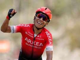 El ciclista colombiano Nairo Quintana. EFE/EPA/SEBASTIEN NOGIER/Archivo