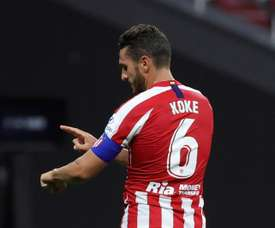 Koke spoke about mising fans at games. EFE