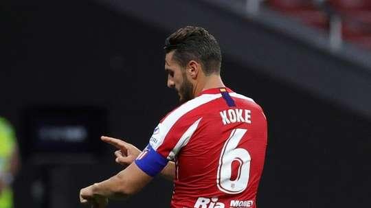Koke falou depois do sorteio da Champions. EFE/JuanJo Martín